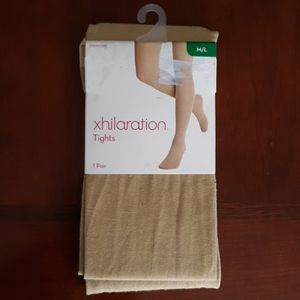 New Xhiliaration Tights Gold Sparkle